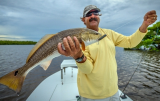 Fishing Guide Tim Klein with Redfish